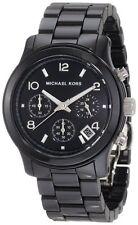 NEW MICHAEL KORS BLACK CERAMIC RUNWAY CHRONOGRAPH BRACELET WATCH MK5162