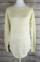 Liz Lange Maternity Sweater Long Sleeve Thermal Top Pullover Blouse Ivory Small