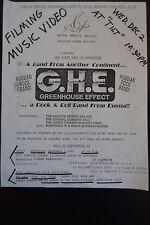 "1992 FLYER - G.H.E. Russian Rock Band ""Greenhouse Effect""  TILT CLUB  NYC  music"