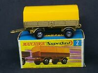 Matchbox MB2-A2 Superfast -  Mercedes Trailer in Type G Box