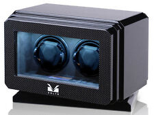 Volta Double 2 Watch Winder Carbon Fiber Finish LCD w/ Rotating Base 31-570021