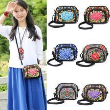 Women Embroidered Clutch Purse Change Small Messenger Shoulder Crossbody Bag