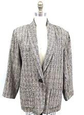 VTG Stijfselkissie Marijke Benedict 1980s Silk Boyfriend Jacket Blazer M Womens