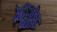 DIAMOND HEAD,SEW ON PURPLE EMBROIDERED PATCH
