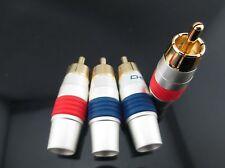 2 pair Choseal Q 910 Audio Speaker Banana RCA Plug Connector 24K HIFI #M2928 QL