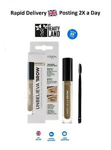 L'Oreal Paris UnbelievaBrow Long-Lasting Eyebrow Gel, Boxed - Choose your shade