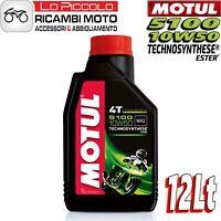 OLIO MOTORE MOTO MOTUL 5100 4T 10W50 10W-50 10W 50 SEMISINTETICO - 12 LITRI LT