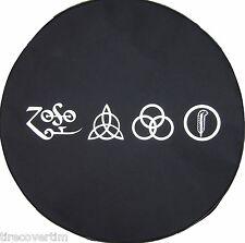 """SpareCover® Brawny Series - Led Zeppelin RUNES 28"""" Denim Tire Cover Rav4"""