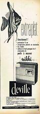 C- Publicité Advertising 1963 Le Poele à Mazout Deville Nikki
