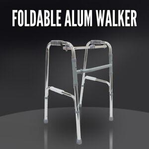 Folding Aluminium Walking Frame, Adjustable Height, Medical Walker