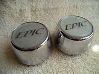Epic Wheels Chrome Custom Wheel Center Cap # 899037 (2 CAPS)