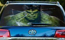 Vinyl Car Rear Window Full Color Graphics Decal Hulk Broken Glass Sticker
