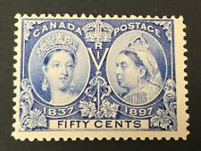 old stamp CANADA 50 cents  JUBILEE 1897 mm
