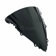Black Windshield Windscreen Double Bubble For Yamaha YZF R6 600 2003-2005 2004