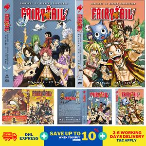 Anime DVD Fairy Tail Vol 1-328 End + MOVIE + OVA Complete English Dub DHL FedEx
