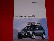 """Vw touareg """"Expedition"""" spécial modèle prospectus + liste de prix de 2005"""