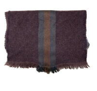 """GUCCI BROWN SCARF WOOL BLEND MONOGRAMMED 62""""/19"""" EXCELLENT CONDITION"""