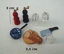 lot pour cuisine, miniature,maison de poupée,vitrine,épicerie,pâtisserie S10-D