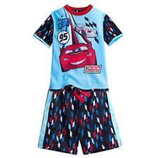 New Disney Store Cars Lightning McQueen 2 Piece Short Sleeve Pajama Set  Size 4T