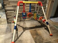 Vintage 1988 Illco Baby Play Gym Sesame Street Portable Activity Toy Gym