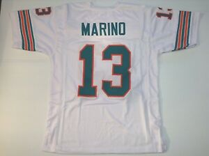 UNSIGNED CUSTOM Sewn Stitched Dan Marino White Jersey - M, L, XL, 2XL, 3XL
