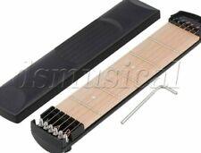 255x50mm Black Left Handed Pocket Guitar 6 Strings 6 Fret With Case