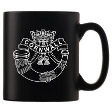 The Duke of Cornwall's Light Infantry, Personalised Black Satin Mug