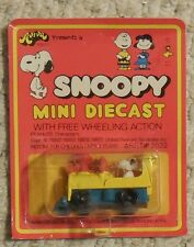 Snoopy Mini Diecast SNOOPY in Loco Mosc New Aviva vintage Train
