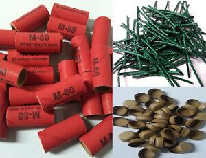 Pyro Tube Kit Stamped M80 9/16 x 1-1/2 with kraft plugs 25ct