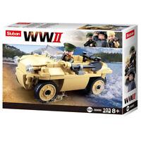Sluban Kids Army Vehicle Building Blocks WWII Series Building Toy ArmyFighterJet