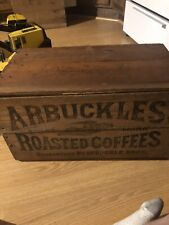 Rare Arbuckles Roasted Coffee Wooden Crate Very Good Condition