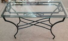 Trendy Glass top black metal Base reception hall lounge dining room side table