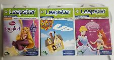 LeapFrog Leapster Lot of 3 Disney Learning Games Tangled~Disney Princess & UP