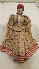 Equisite Antique 19th C. War era American Folk Art Cloth Rag Doll ,Primitive