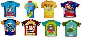 Bike Cycling Jersey Child MTB Clothing For Kids cute cartoon print