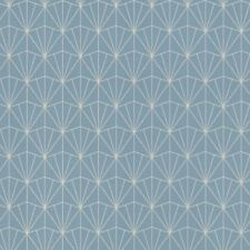 Rasch Midland Art Deco Blue Geometric Metallic Silver Non-Woven Wallpaper 434057