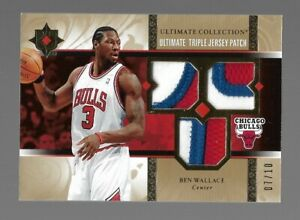 2006-07 Upper Deck Ultimate Collection Ben Wallace Three Color Patchs #7/10