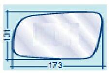 SKODA FABIA FINO AL 12.2006 VETRO SX PIANO CROMATO PER SPECCHIETTO RETROVISORE