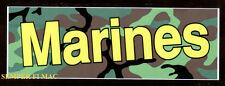2 AUTHENTIC US MARINE BUMPER STICKER PIN MARINES DECAL