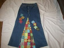 Women's Carole Little Sport Stretch Denim Skirt - Size  4 - Hand Designed