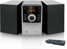 LONPOO Micro CD Player, Home Stereo System 30W Mini Hi-Fi Stereo with Bluetooth