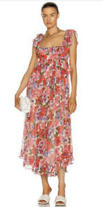 Zimmermann Lovestruck Poppy Frill Edge Dress -BNWT- RRP$1,100 AUD