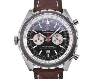 BREITLING Chronomatic A41360 Chronograph blackDial Automatic Men'sWatch E#102993