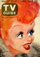 TV Guide 1957 Lucille Ball I Love Lucy Desi Arnaz V5N44 #240 Hirschfeld EX COA