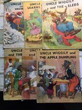 UNCLE WIGGILY Series - 7 Antique Books - Garis, Howard R.