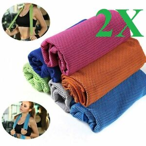 2pcs  ice Cooling Towel for Sports/Workout/Fitness/Gym/Yoga towels