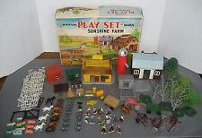 Vintage Marx Miniature Sunshine Farm Playset Barn Buildings Animals Accessories
