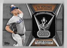 Clayton Kershaw 2013 Topps 2011 CY Young Award Winner Commemorative Trophy Card