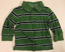 The Children's Place~Boys 18-24M~ Striped Collared Shirt~Long Sleeve~Green Blue