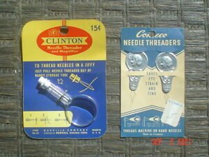 LOT OF 3 VINTAGE NEEDLE THREADERS - UNUSED - EXCELLENT CONDITION